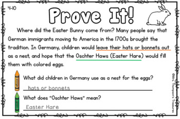 Prove It - April Daily Text Evidence Practice