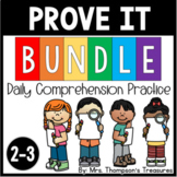 Prove It BUNDLE - Reading Comprehension Passages and Questions