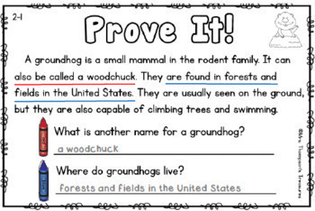 Prove It BUNDLE - Reading Comprehension Passages and Questions