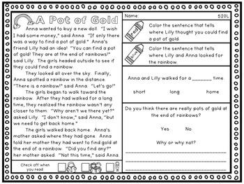 Prove It: Comprehension Passages Sample