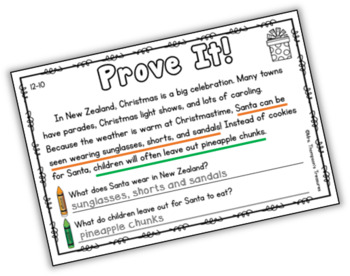 Prove It - December Daily Text Evidence Practice