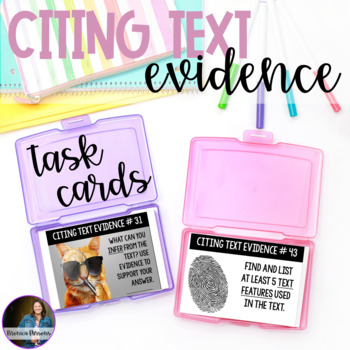 Prove It! Finding Evidence Task Cards
