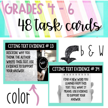 Text Evidence Task Cards for ANY Text