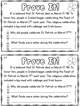 Prove It - March Daily Text Evidence Practice