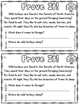 Prove It - November Daily Text Evidence Practice