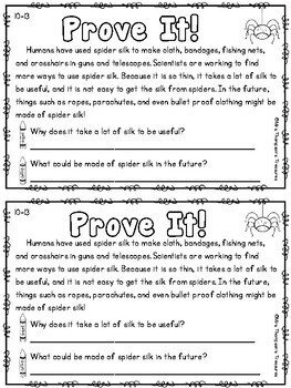 Prove It - October Daily Text Evidence Practice
