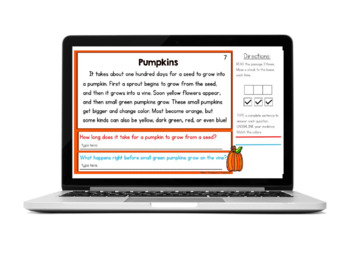 Prove It - October Reading Comprehension Passages and Questions