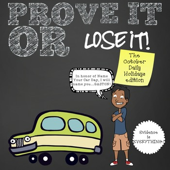 Prove It Or Lose It! (October Daily Holidays) finding text