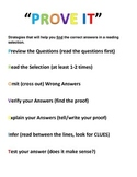 Prove It Reading Strategy Poster