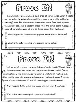 Prove It - September Daily Text Evidence Practice