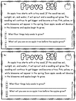 Prove It - September Reading Comprehension