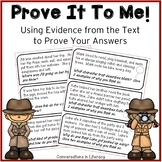 Prove It To Me!  Freebie | Independent Work Packets