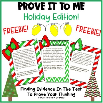 Prove It To Me!  Holiday Freebie
