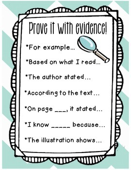Prove It With Evidence
