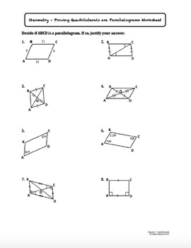 Prove Quadrilaterals are Parallelograms (Lesson with Homework)
