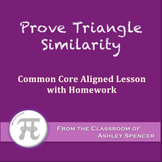 Prove Triangle Similarity (Lesson with Homework)