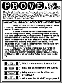 Text Evidence and Find the Main Idea: January Edition