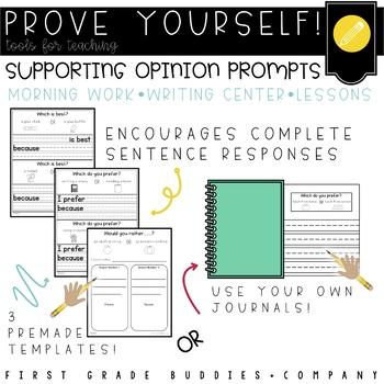 Prove Yourself! {ELA Version} Prompts to Encourage Practic