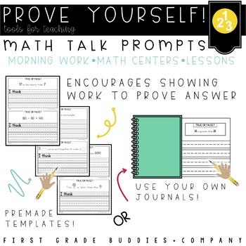 Prove Yourself! {MATH EDITION} Math Talk Prompts Requiring