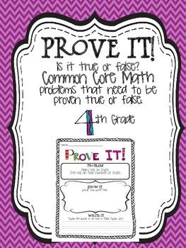 Prove it! {4th grade Common Core math problems}