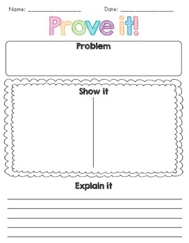 Prove it! Common Core aligned worksheet