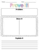 Prove it! Common Core aligned worksheet