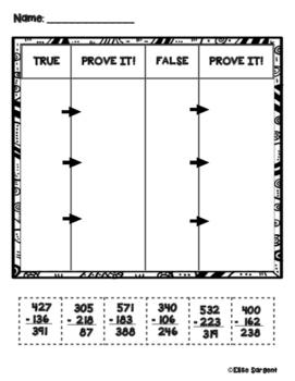 Prove it! Inverse Operations Check