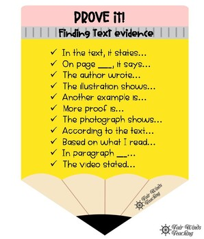 Prove it! Poster Pencil (Text Evidence tool)
