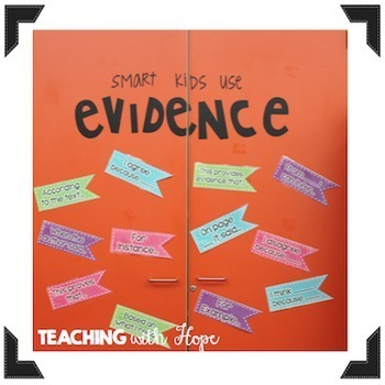 Prove it to Me! Providing Evidence Posters and Bulletin Board Set