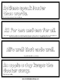 Proverb Bookmarks and Project Ideas