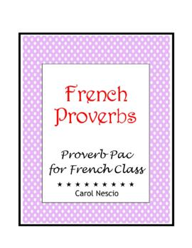 Proverb * Pac For French Class