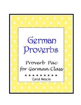 Proverb * Pac For German Class