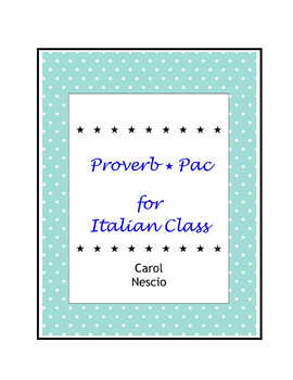 Proverb * Pac For Italian Class