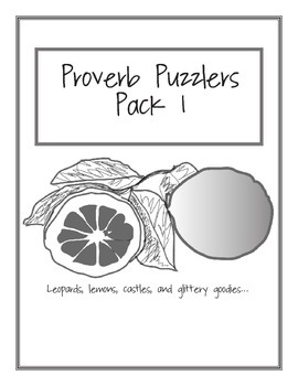 Proverb Puzzler Pack