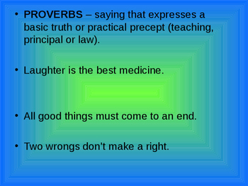 Proverbidioms
