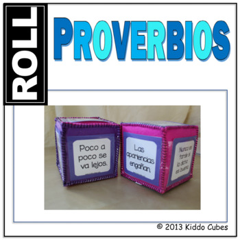 """Proverbios """"Learning Cube Inserts"""""""