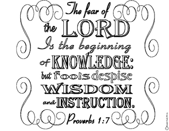 Proverbs 1:7 Coloring Page