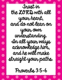 Proverbs 3:5-6 Poster - Bible Poster