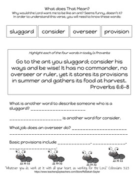 Bible Study for Kids: What Can I Learn From the Ant ...