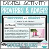 Proverbs & Adages Digital Activity Google Slides Distance