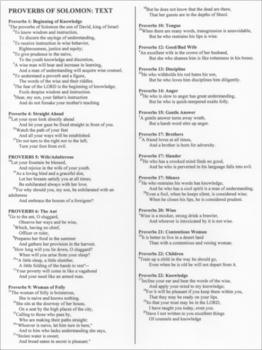 Proverbs: Bible as Literature
