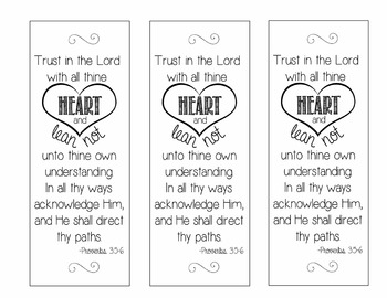 Proverbs Bookmark - Set of 3 - Inspirational Quote