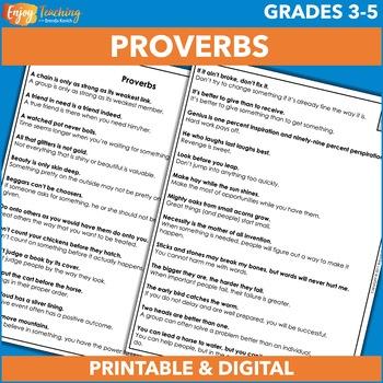 Proverbs Freebie
