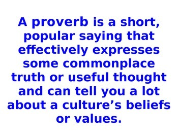Proverbs From Around the World Bulletin Board