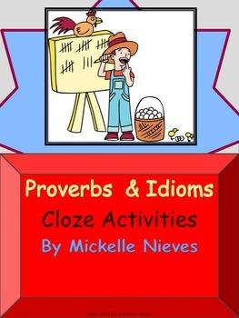 Proverbs & Idioms: Cloze Activities