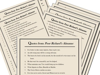 Proverbs, Idioms, and Adages - Powerpoint Presentation & Handouts / Worksheets!