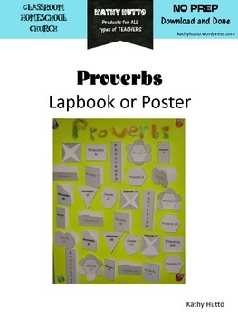"Proverbs ""Lapbook Style"" Poster"