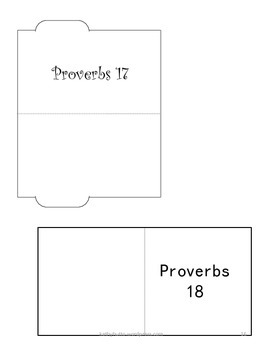 """Proverbs """"Lapbook Style"""" Poster"""