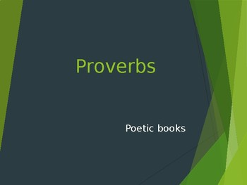 Proverbs Power Point Notes
