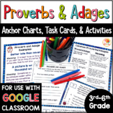 Proverbs and Adages Activities   Proverbs and Adages Distance Learning